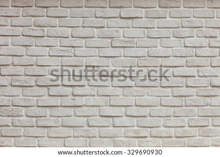 White grunge brick wall  for background - stock photo