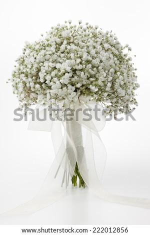 White Gypsophila Flowers Wedding Bouquet