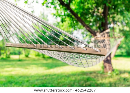 White hammock among the trees