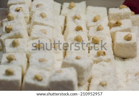 White hazelnut Turkish Delight