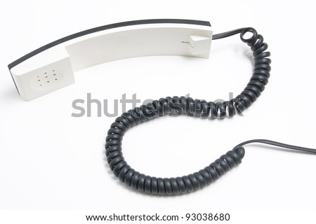 White headset phone on a white background