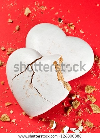 White heart honey cookies - stock photo