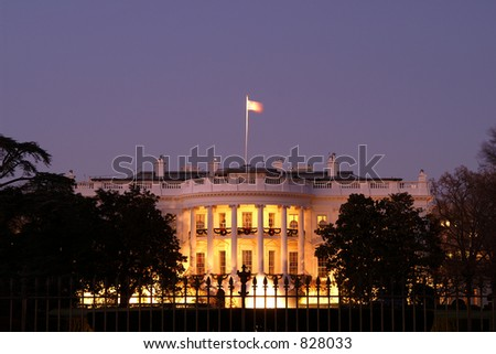 White House at Christmas - stock photo
