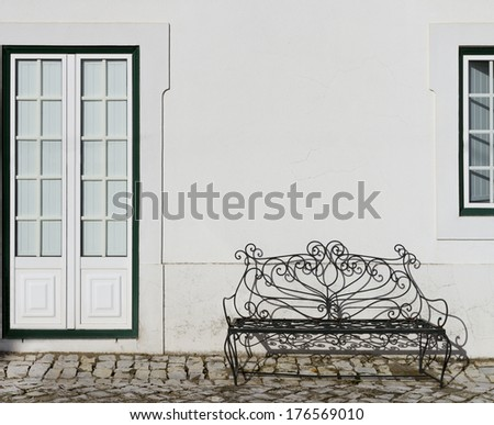 White House facade strict and stylish - stock photo