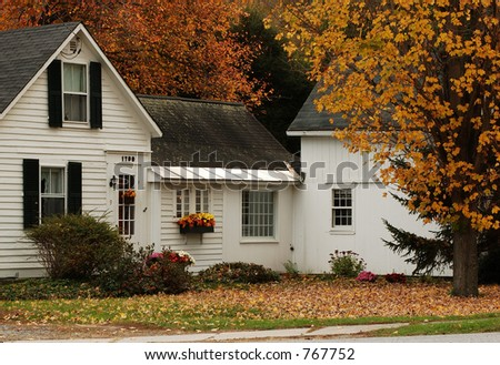 White House in the Fall - stock photo