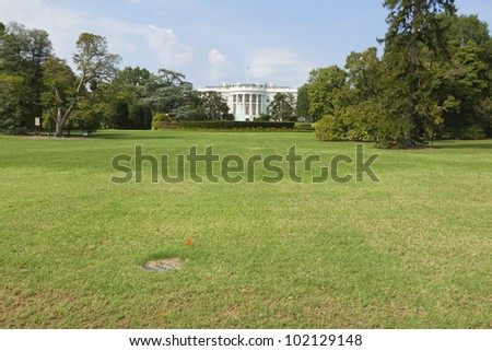 White House in Washington, DC - stock photo