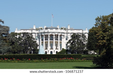 White House, in Washington DC, United States of America