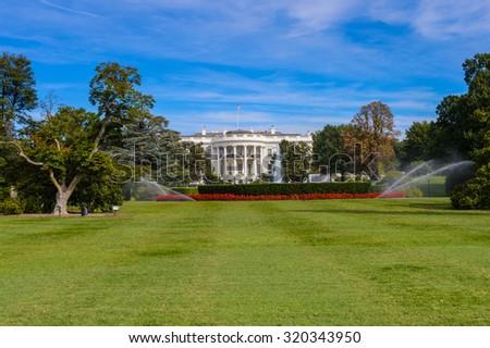 White House, the US President Residence, Washington DC, Virginia - stock photo