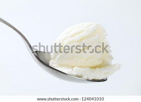 White ice cream  - stock photo