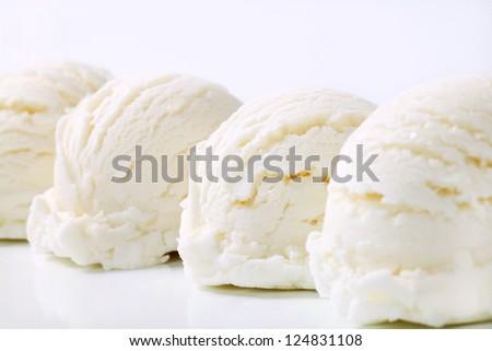 White ice cream scoops - stock photo