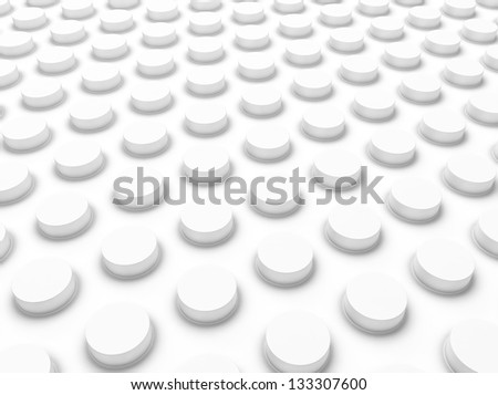 White industrial background with dots  (floor) - stock photo