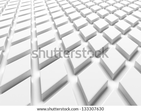 White industrial background with rhombs  (floor) - stock photo