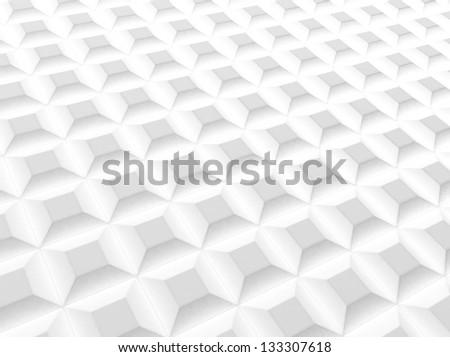 White industrial background with squares - stock photo