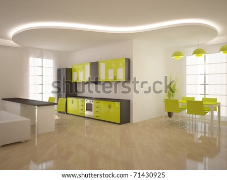 white interior composition - stock photo