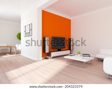 white interior of a flat