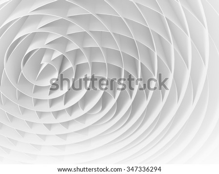 White intersected 3d spirals, abstract digital illustration, background pattern - stock photo