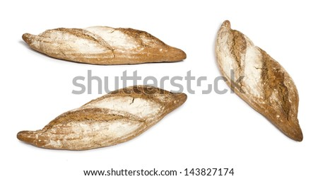 White isolated Bread