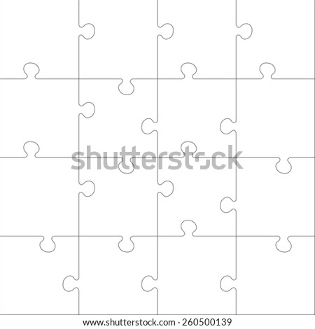 White Jigsaw Puzzle Every Piece Is A Single Shape Seamless Texture