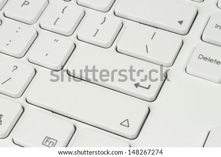 White keyboard background - stock photo