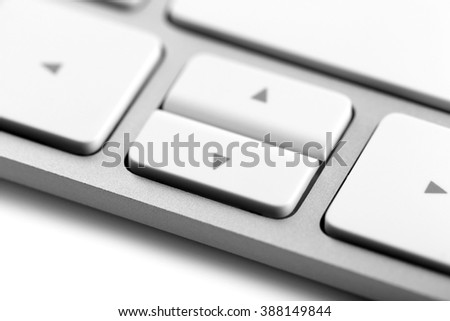 White keys of computer keyboard, closeup - stock photo