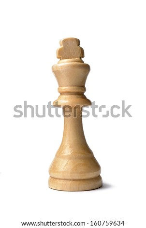 White king chess piece on a white background.