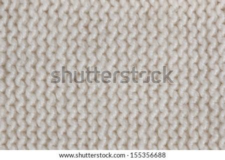 White knitted horizontal textured background  - stock photo