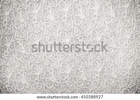 white lace with small flowers