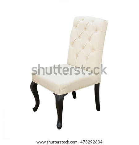 white leather chair isolated