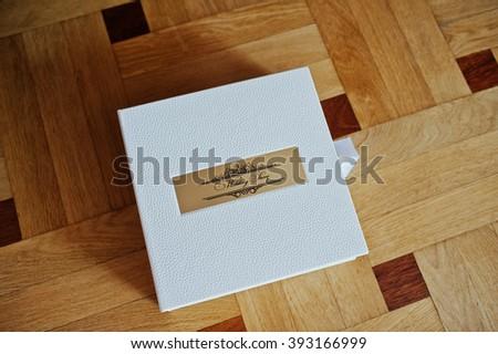 white wedding album