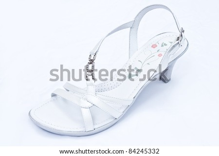 White leather woman shoe