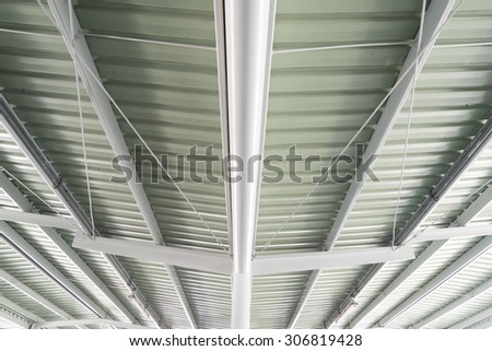 white light Corrugated metal texture surface or galvanize steel background