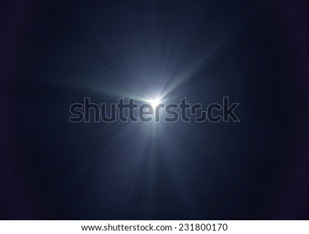 White light on black background - stock photo