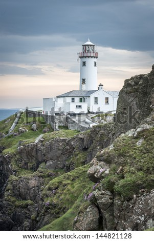White lighthouse at Fanad Head, North Coast of Donegal, North Ireland