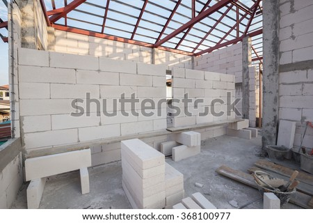 white Lightweight Concrete block, Foamed concrete block, raw material for industrial wall or house wall