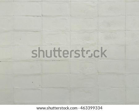 White lightweight concrete brick wall