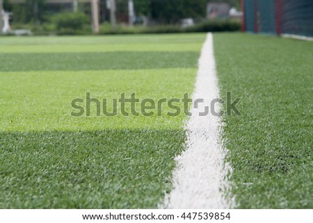 White line artificial turf