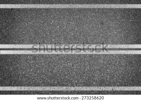White line on the road - stock photo