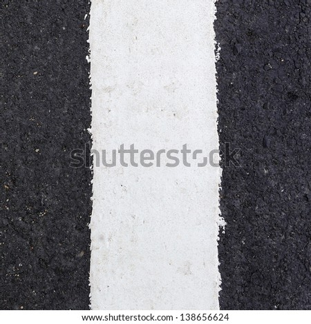 white line on the road texture - stock photo