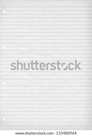 White lined paper for notes with visible paper pattern - stock photo