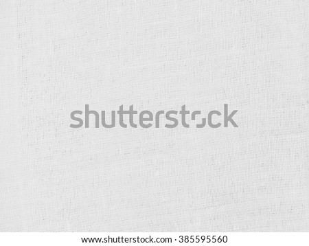 White linen cotton fabric thin type with nature material - stock photo
