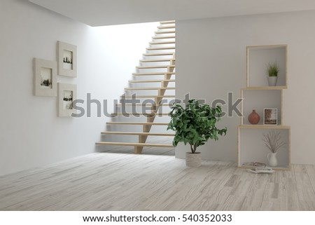 Stairs interior stock images royalty free images for Interior design of living room with stairs