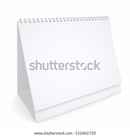 White loose-leaf calendar. Isolated render on a white background - stock photo