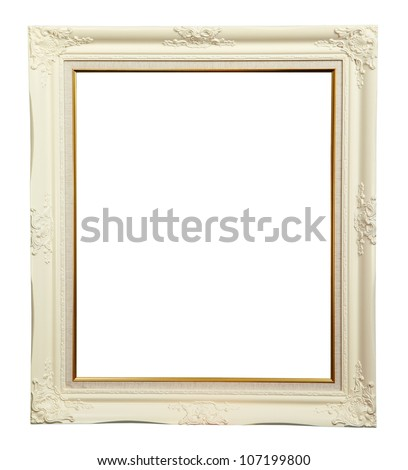 White louise photo frame over white background - stock photo