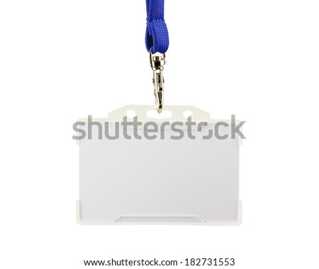 White magnetic access card isolated on white background