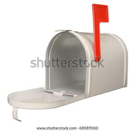White Mailbox. - stock photo