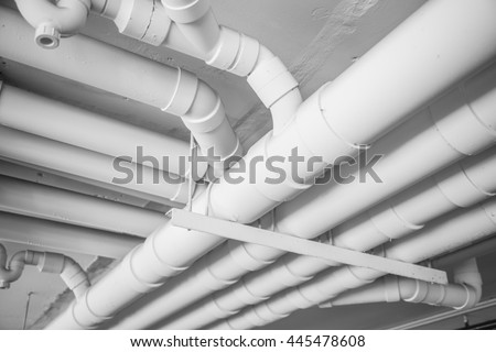 Pvc pipe stock images royalty free images vectors for White plastic water pipe