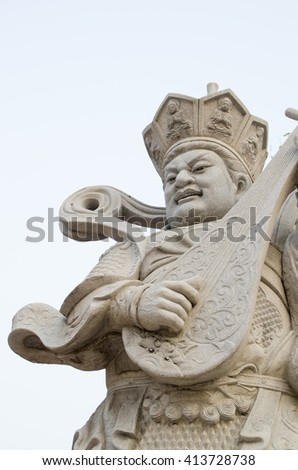 White marble chinese giant men of  war