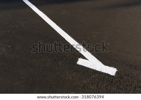 White mark on empty parking place. Signs and road marks.  - stock photo