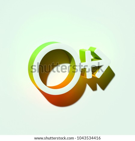 White Mars Stroke H Icon 3d Stock Illustration 1043534416 Shutterstock