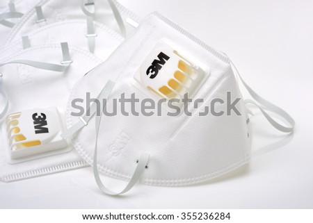 white mask background - stock photo